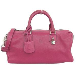 Loewe LOEWE 2WAY Bag Leather Red