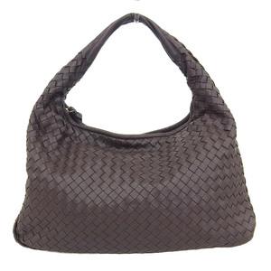 Bottega Veneta Intrechart One Shoulder Bag Leather Brown 115653