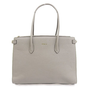 Furla FURLA tagged 2019 current sale product PIN tote bag M leather gray beige A4 size OK commuting school reference price 67000 yen