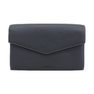 Loewe LOEWE Leather Travel Case 5 Room Ticket Passport Map Storable Fastener Pocket × 1 Second Bag