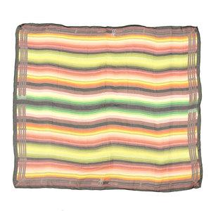 Hermes HERMES current black tag silk muslin chiffon large format stall rainbow pattern 130 × 130cm shawl scarf muffler