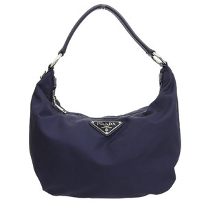 Prada PRADA Current MIRANO logo Triangle plate Nylon Shoulder Handbag Navy BR3279 Reference price 90000 yen