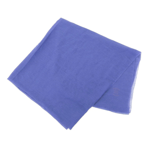 Hermes HERMES PLUMES large format cashmere silk stall blue 100 × 200cm shawl scarf muffler