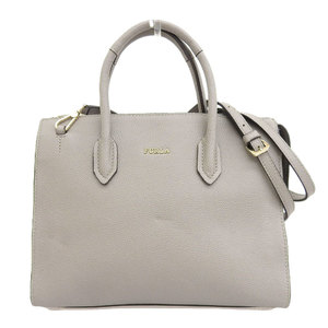 Furla FURLA tag with current sale product PIN leather 2way shoulder tote bag gray