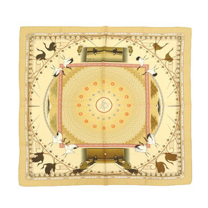 Hermes HERMES with box once-in-a-lifetime chance rare color curry 90 scarf Senrikyu tea ceremony