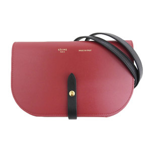 Celine CELINE 2018 product strap clutch on leather shoulder bag red black several times use