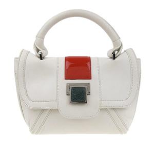 Loewe LOEWE Anagram Logo Nappa Leather Mini Handbag White Bicolor Commuter