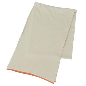 Hermes HERMES Silk 100% Stole Orange x Beige Muffler