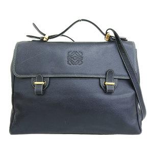 LOEWE LOEWE 80's Spanish leather business briefcase 2way shoulder bag