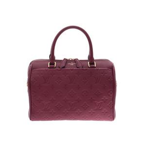 ルイ・ヴィトン(Louis Vuitton) ルイヴィトン アンプラント スピーディ バンドリエール25 NM ボルドー M43262 レディース 2WAYハンドバッグ  新同 美品 LOUIS VUITTON ストラップ付 中古 銀蔵