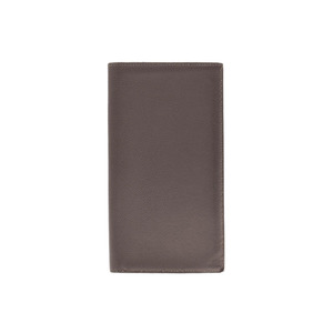 Hermes Fleming Ethane □ Q Stamp Men's Women's Vograin Long wallet with gusset B rank HERMES Used Ginzo