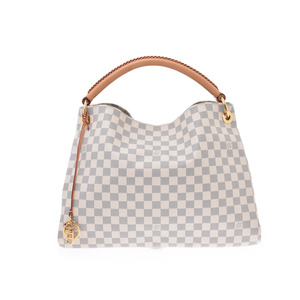 Louis Vuitton Azure Arty MM White N41174 Women's Genuine Leather Bag A Rank Good Condition LOUIS VUITTON Used Ginzo