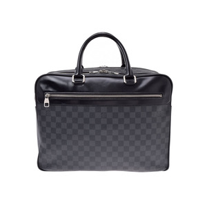 ルイ・ヴィトン(Louis Vuitton) ルイヴィトン グラフィット オーバーナイト 黒 N41004 メンズ 本革 ビジネスバッグ Bランク LOUIS VUITTON 中古 銀蔵