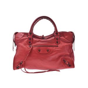 Balenciaga The City Red Ladies Calf 2WAY Bag B Rank BALENCIAGA