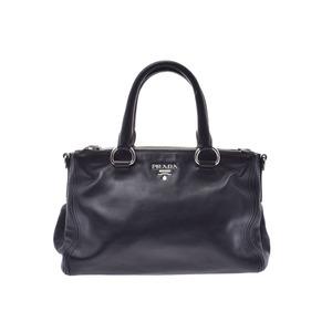 Prada Handbag Black SV Hardware BN2866 Ladies Soft Calf AB Rank PRADA Gala Used Ginzo