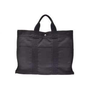 Hermes Aleline MM New Gray Women's Men's Canvas Tote Bag B Rank HERMES Used Ginzo