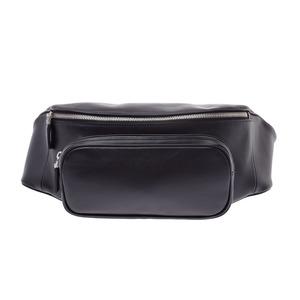 Prada Bum bag black 2VL006 men's women's calf waist pouch