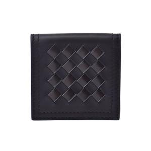Bottega Veneta Coin Purse Intrechart Black Men's Women's Leather Case Unused BOTTEGA VENETA Box Used Ginzo