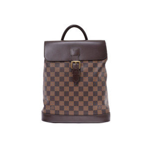Louis Vuitton Damier Soho Brown N51132 Women's Genuine Leather Backpack AB Rank LOUIS VUITTON Used Ginkura
