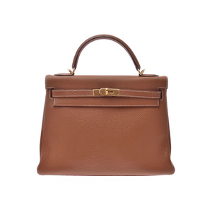 Hermes Kelly 32 inner stitch gold G metal fittings □ I stamped ladies Tolyon Clement 2WAY handbag AB rank HERMES box with strap used silver warehouse