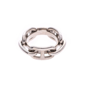 Hermes Scarf Ring Shane Dunkle Women's Men's Silver AB Rank HERMES Box Used Ginzo