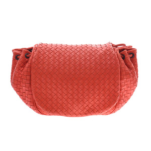 Bottega Veneta Shoulder Bag Intrecciato Orange Ladies Men's Lambskin