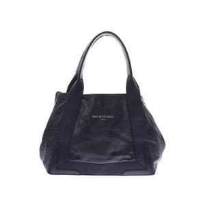 Balenciaga Navy Cabas S Women's Men's Leather Handbag Tote B Rank BALENCIAGA Used Ginkura