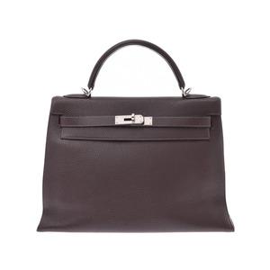 Hermes Kelly 32 Outer seam Brown SV metal fittings □ I stamp Ladies Togo 2WAY handbag B rank HERMES