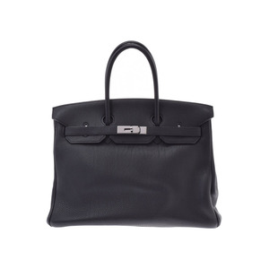 Hermes Birkin 35 Black Ruthenium Hardware □ J Stamp Ladies Togo Handbag B Rank HERMES Used Ginzo