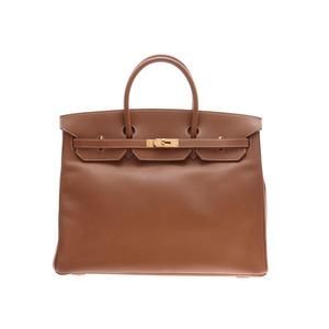Hermes Birkin 40 Gold GP metal fittings □ F stamp Ladies Men's Kushbell Handbag AB rank HERMES Used Ginzo