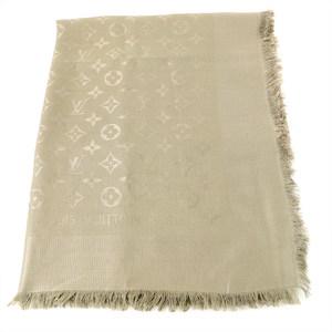 Louis Vuitton LOUIS VUITTON monogram stall silk wool beige ladies men's popular