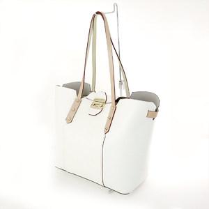 Furla FURLA White PVC Leather Beige Tote Bag Ladies A4 Commuter School Popular