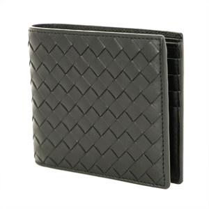 Bottega Veneta Intrechart Black Leather Bifold Wallet Men Popular