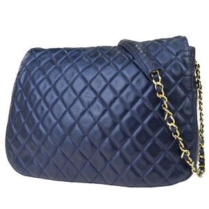 シャネル(Chanel) Chain CC レザー,キルティング ショルダーバッグ ブルー