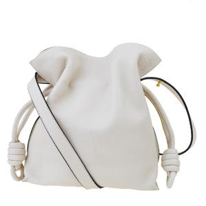 Loewe Flamenco Leather Shoulder Bag Ivory