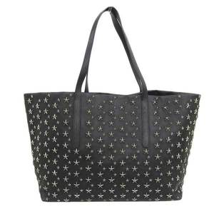 JIMMY CHOO Pimlico Star stud leather tote bag black camouflage
