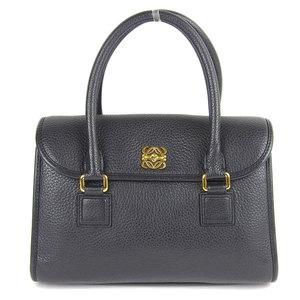 LOEWE Loewe Alamo 28 Leather 2WAY Handbag Shoulder Black
