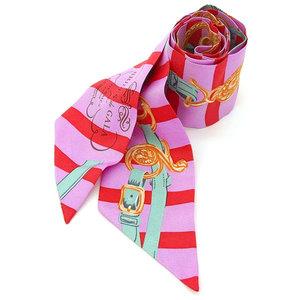 HERMES Hermes silk Twily scarf