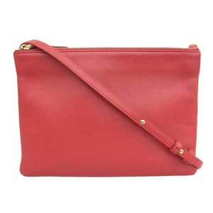 CELINE Celine Lamb Leather Trio Shoulder Bag Red