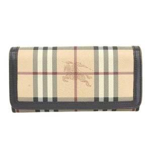 BURBERRY Burberry Nova Check Folded Wallet Beige Leather
