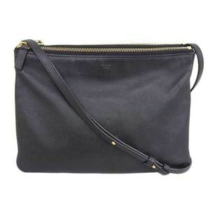 CELINE Celine Leather Trio Shoulder Bag Black