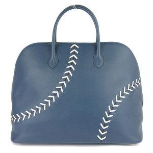 HERMES Hermes Ever Color Bored 1923 Baseball 45 Handbag Brude Mart Silver Hardware Leather