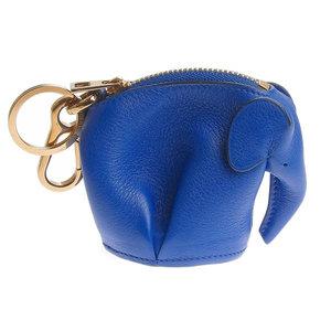LOEWE Loewe Leather Elephant Coin Case Charm Purse Blue