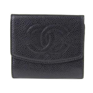 CHANEL Chanel Caviar Skin Coco Mark Card Case Business Holder Black 3rd