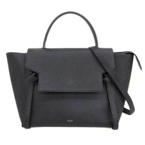 Celine Belt Bag 2WAY Shoulder Bag Leather Bag Black