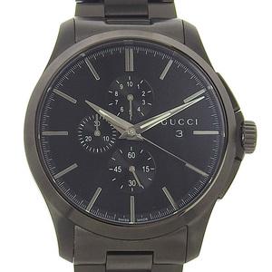 Gucci G Time Chronograph PVD Men Quartz Watch 126.2