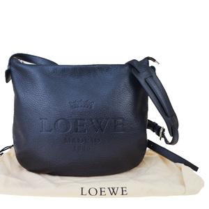 ロエベ(Loewe) ヘリテージ レザー ショルダーバッグ ブラック