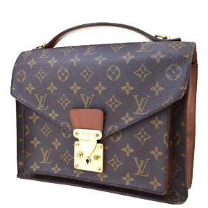 ルイ・ヴィトン(Louis Vuitton) モノグラム モンソー M51185 バッグ ブラウン