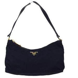 Prada Nylon,Leather Handbag Black