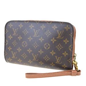 ルイ・ヴィトン(Louis Vuitton) モノグラム オルセー M51790 クラッチバッグ ブラウン